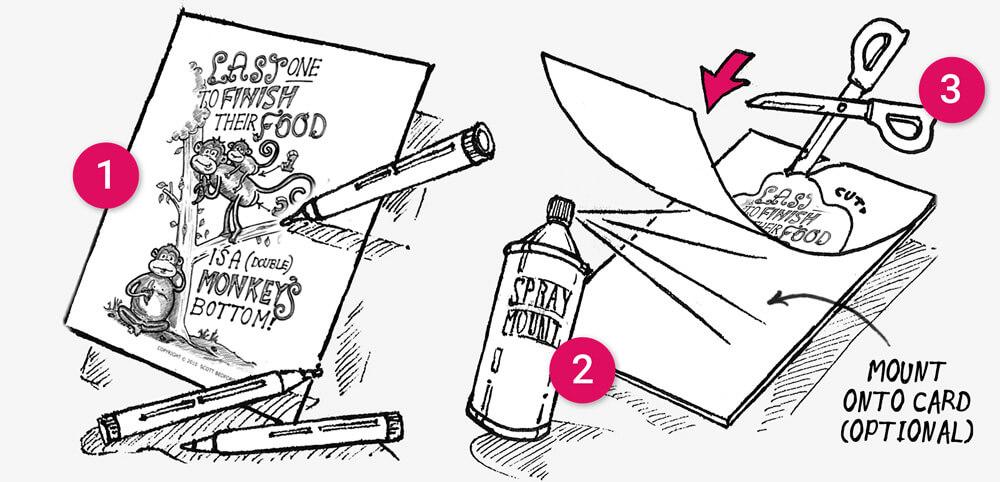 Finish your dinner challenge cards: illustration 1