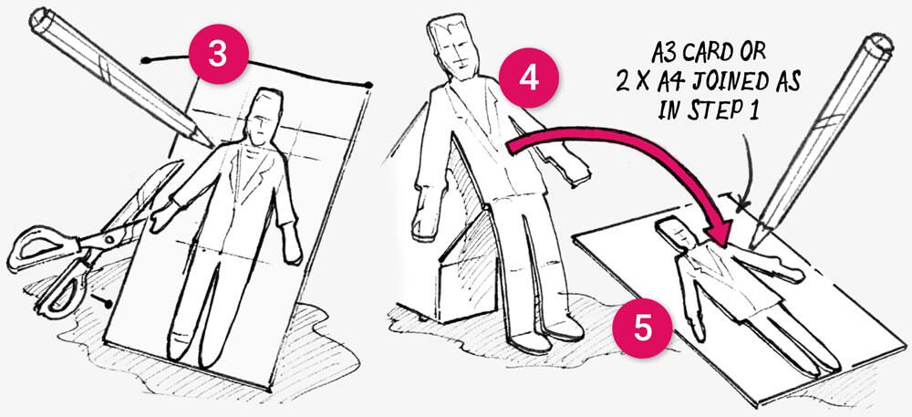 How to make Halloween knife-block cutouts: illustration 2