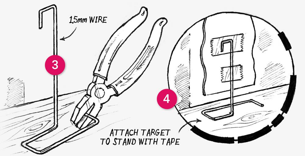 How to make Five Printable Paper Nerf Gun Targets: Step 3-4
