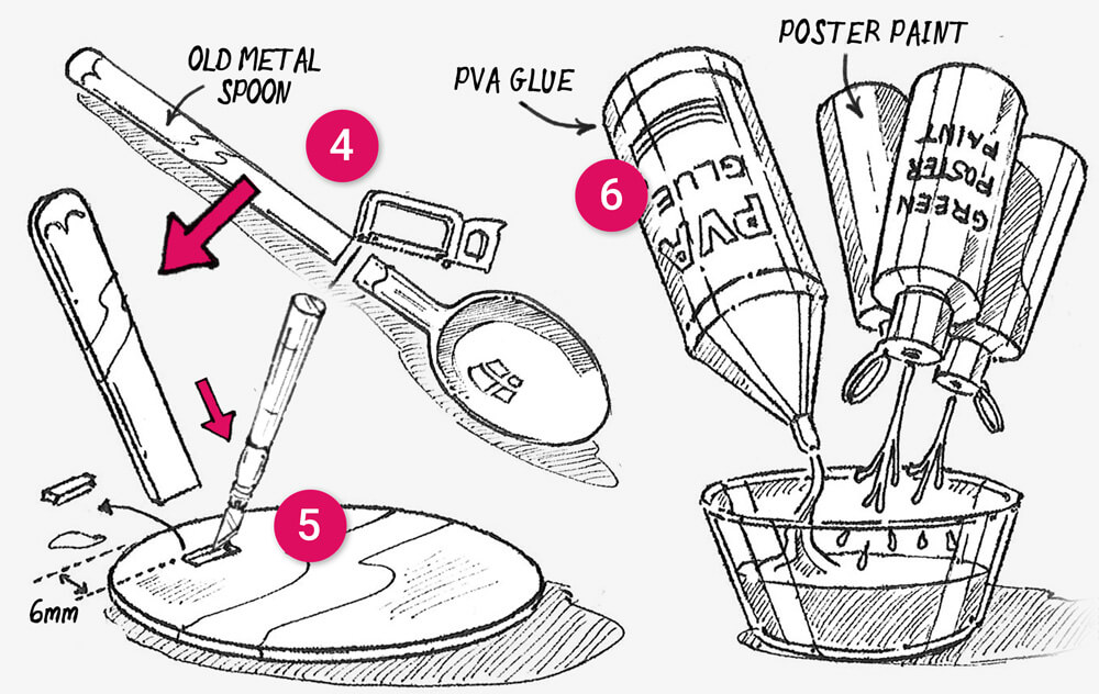 How to make a 'snail soup decoy' secret stash treasure box: Step 4-6