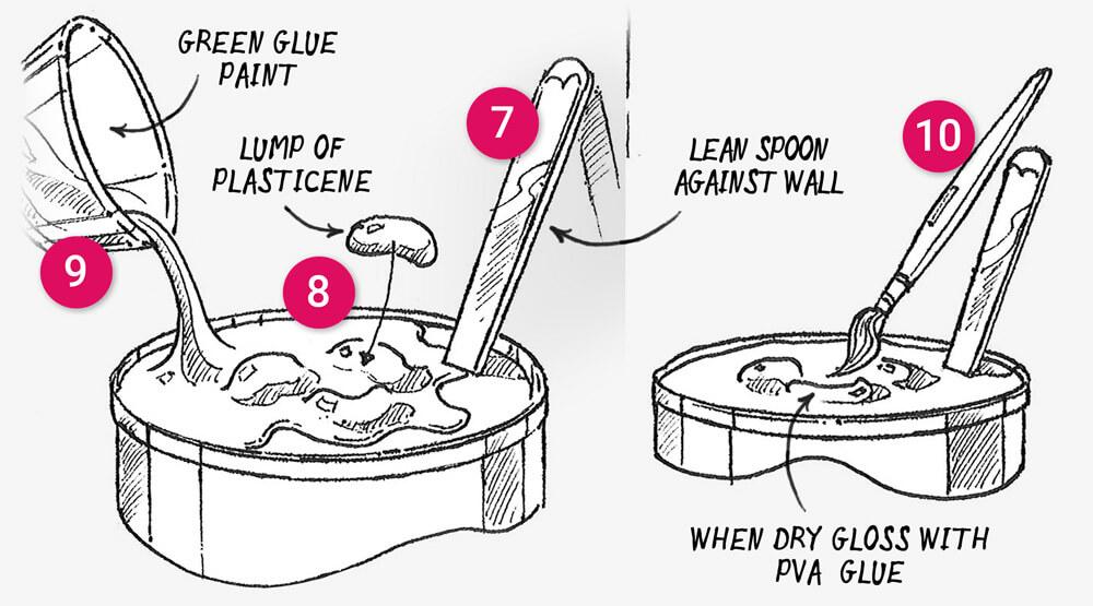 How to make a'snail soup decoy' secret stash treasure box: Step 7-10