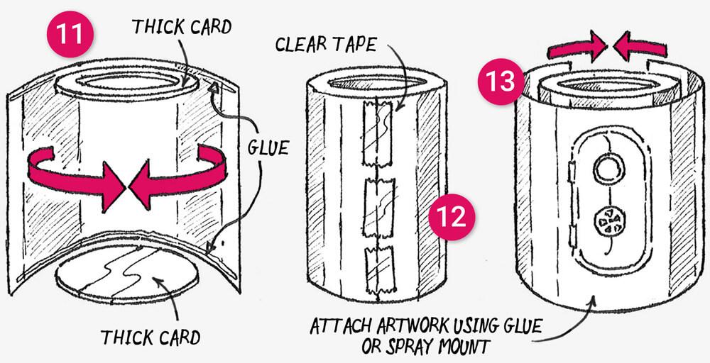 How to make a 'snail soup decoy' secret stash treasure box: Step 11-13