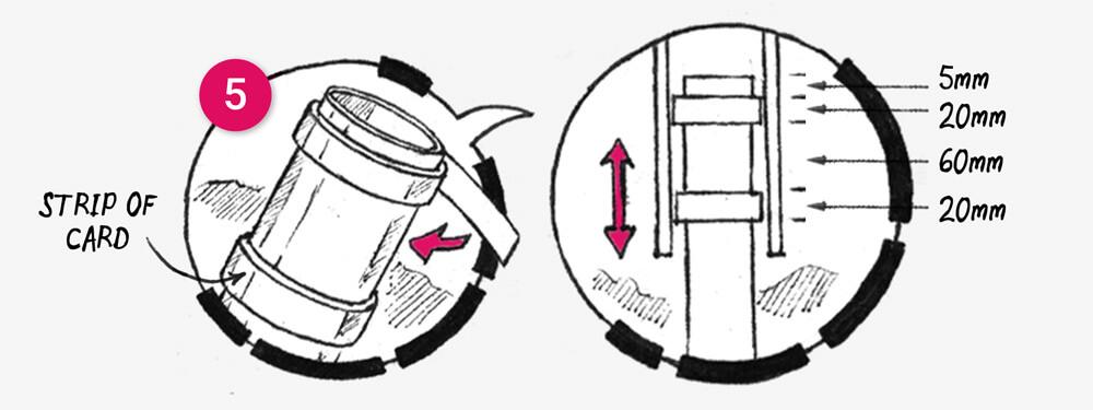 How to make a telescopic paper floor light: illustration 2