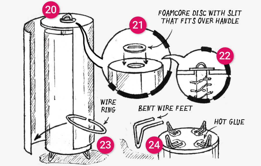 How to make a telescopic paper floor light: illustration 7