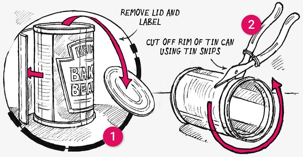 How to make a Tin can tea light holder: illustration 1